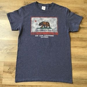 Californian Republic Graphic T-Shirt Bear Size S